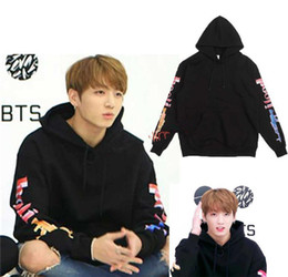 Wholesale Kpop Pullover - Wholesale- Kpop Bts WINGS Cap Hoodie JUNG KOOK Hoodie sweatshirts Bangtan Boys Winter Autume Pullover man hoody sweatshirt Coat