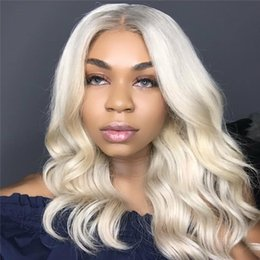 Wholesale Blonde European Hair Virgin Wig - #613 Human Hair Wigs With Baby Hair Pre Plucked Full Lace Wigs Black Women Brazilian Virgin Human Lace Front Wigs