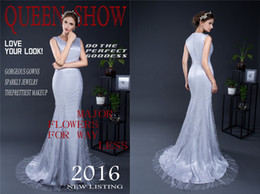 Wholesale Celebrity Portraits - Crew Tassel Embroidery Mermaid Prom Dresses Lady Evening Party Gowns Long Trumpt Red Carpet Celebrity Capped Sleeve 2017 Christmas Fashion