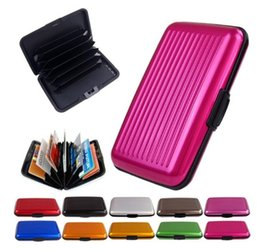 Wholesale Container Business - Thin Metal Rfid Card Protector Slim Aluminum Credit Cards Holder Anti Degaussing Wallet Case RFID Blocking Card Case Container