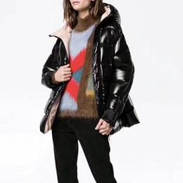 Wholesale Poplin Coat - Red   Black Colors Women Down Coat Women Parka Qulity M Brand Thick Down Jacket Fashion Diagonal Zipper Female Coat