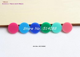 Wholesale 16mm Round Beads - Wholesale-(6colors,96pcs lot) 16mm Assorted Acrylic Beads Disc for Earring Dark pink, Aqua,Blue, Green,Turquoise, Pink Round -AC1028C