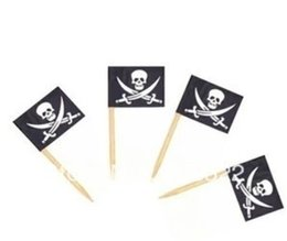 Wholesale Flags Banners Promotional - Banner  Advertising  Promotional Flag (toothpick flag)-Skull flag Cake Pirate flag