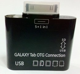 Wholesale Sd Galaxy - 5 in 1 USB Camera OTG Connection Kit for SAMSUNG GALAXY Tab 2 3 P5100 P3100 P5200 P3200 T310 Card Reader Adapter 100pcs lot