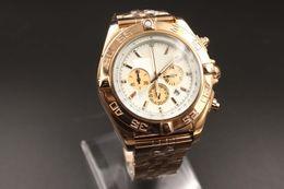 Wholesale Watch Dials Seller - New Hot seller Elegant Special Fine Brand Quartz-Watches Men White Dial Analog Gold Case & Skeleton Rose Gold Band Avenger 1884 Chronometer