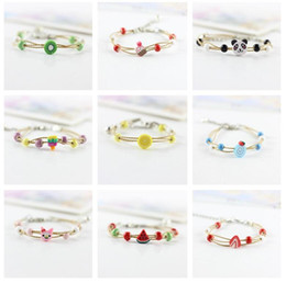 Wholesale Cute Clay Charms - High quality Cute female cartoon couple sisters bracelet simple sweet jewelery FB108 mix order 20 pieces a lot Charm Bracelets
