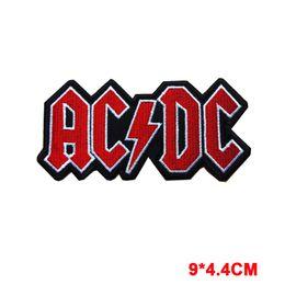Gestickte patch-logos online-Neue Wörter ACDC Logo Hard Metal Rockmusik Band Nähen Eisen auf gesticktem Patch Badge Patches