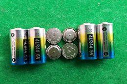 Wholesale Battery Trains - 2000pcs lot 0%Hg Pb Mercury free 4LR44 6V Alkaline battery for dog training collar beauty pen door opener FedEx UPS shipping