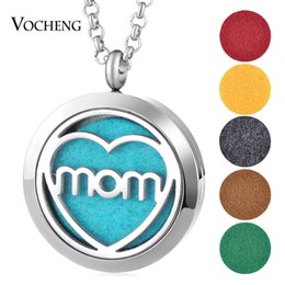 Wholesale Magnetic Hot Plate - Hot Hollow Out Magnetic Aromatherapy Diffuser Necklace Jewelry Perfume Locket Pendant Essential Oil Scent Locket Necklace VA-485