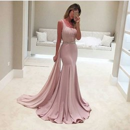 Wholesale Two Sided Belt - 2017 Fashion evening gowns Vestidos De Formature One Shoulder Pleated Sleeveless Beaded Belt Mermaid Prom Dresses vestidos de noiva