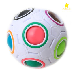 Wholesale Rainbow Children - Magic Cube Ball Spherical Rainbow Ball Football Cube Speed Puzzle Children's Education Learniing Toys for Kids Child