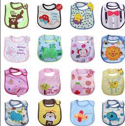 Wholesale Handkerchief Towel - Kids Bibs Saliva Cartoon Towel baby Burp Cloths Baby Feeding Bib Infant Saliva Towel Baby burp handkerchief bibs KKA2052