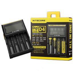 Nitecore LCD Intelligent d4 chargeur de batterie universel pour 18650 18500 16340 14500 26650 Chargeur de batterie Chargeur intelligent 4 en 1 I2 D2 D4 ? partir de fabricateur