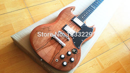 Wholesale Sg Ebony - Wholesale-free shipping SG 400 Custom Shop Ebony fingerboard electric guitar one piece neck one piece body