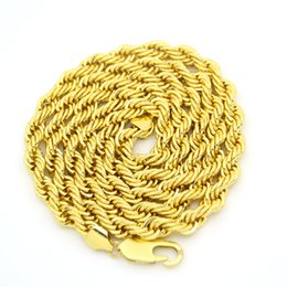 Wholesale Necklace Long 8mm - Chunky 8mm thickness 36inch long Hip Hop Rope Chain Necklace N653
