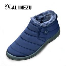 Wholesale Platform Casual Shoes - Wholesale- Big size 35-44 Warm Fur men Snow Boots Shoe Flat Heels plush ankle boots Winter autumn Casual Shoes Platform outdoor women shoes