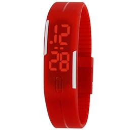 Relojes baratos para niños online-Reloj LED Moda Niños y Niñas Pantalla táctil Reloj Deportes Rectángulo estudiantes Pulseras de silicona Relojes digitales Venta al por mayor Reloj barato