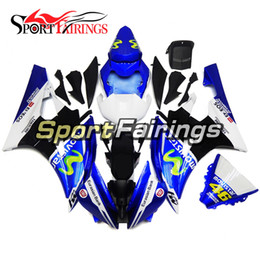 Wholesale Yamaha R6 Blue Fairing Kits - Fairings For Yamaha YZF600 YZF R6 06 07 YZF-R6 2006 2007 Injection ABS Motorcycle Fairing Kit Bodywork Motorbike Cowling Blue White