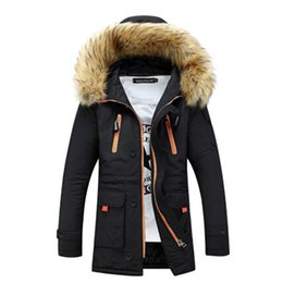 Wholesale Down Cotton Long Hooded Jacket - Wholesale- 2016 winter thick Padded Coats long sleeve fur hood keep warm cotton jackets casual outwear slim Sportswear Free shipping S-XXL