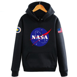 Wholesale America Long - NASA Mars Rescue hoodies for men autumn letter print long sleeve hoodies men fashion new tide hip hop america men hoodies free shipping