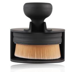 pinceles de maquillaje tipos de cabello Rebajas 1 unids Tipo de Sello Fundación Maquillaje Cepillo de Oro Plata de Nylon Cabello Mango De Plástico A Prueba de Polvo Diseño Oblicuo Pinceles de Maquillaje Herramientas Cosméticas