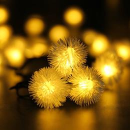 luci di sfera per il giardino Sconti 20 LED Solar Outdoor String Fairy Chuzzle Ball Solar Powered Outdoor String Lights per esterno Garden Camping Patio Party Christ