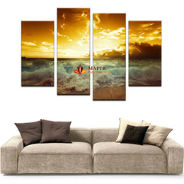 Wholesale Family Oil Paintings - High Quality Mordern Canvas Picture The Family Decorates Sea wave Print in The Oil Painting On The Canvas Wall Art Picture Gift