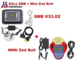 Wholesale Bmw Work - DHL Free Auto Key Programmer PRO OBD2 Transponder Silca SBB V33.02&Mini Zed Bull SW V508 Works Multi-Car Key Maker