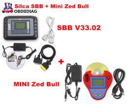Wholesale Silca Sbb Programmer - DHL Free Auto Key Programmer PRO OBD2 Transponder Silca SBB V33.02&Mini Zed Bull SW V508 Works Multi-Car Key Maker