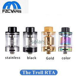 Wholesale Troll Wholesale - Original Wotofo The Troll RTA 24mm Diameter Rainbow Gold Best Airflow 5ml Top Refilling Rebuidable Tank Atomizer Dual Coil Rebuild