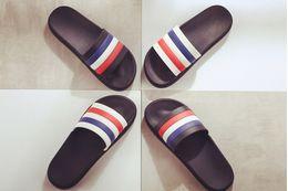 Wholesale Mens Slippers Wholesale - Mens Women Fashion Comfortable Causal Flat Rubber Sandals Summer Outdoor Beach Slide Sandals 2 Colors C86Q