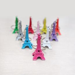 Wholesale Paris Souvenirs - couple lovers key ring advertising gift keychain Alloy Retro Eiffel Tower key chain tower French france souvenir paris keyring keyfob cut