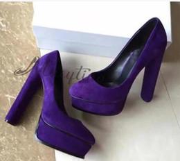 2019 chaussures à talons épais 2017 femmes pompes de velours plate-forme hauts talons chunky chaussures de soirée à talons chaussures à talons épais pas cher