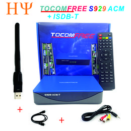 Wholesale Satellite Receiver Sks - TOCOMFREE S929 ACM T H.265 With WiFi Satellite Receiver DVB-S2 with ISDBT IKS SKS FREE Support newcam cccam power vu