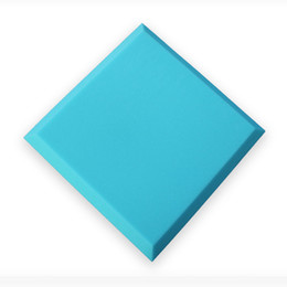 Wholesale Insulation Soundproofing Materials - 5 Pcs of Blue 50x50x5cm Flat Bevel Polyurethane Foam Acoustic Panels Studio Foam Insulation Material Soundproofing Sponge for Echoes Absorb