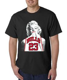Le plus récent 2017 Mode Mode Hommes À Manches Courtes Vente 100% Coton Unisexe T-Shirt Marilyn Monroe Bulls 23 Michael ? partir de fabricateur