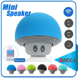 Wholesale Bluetooth Mushroom - Mushroom Mini Wireless Bluetooth Speaker Hands Free Sucker Cup Audio Receiver Music Stereo Subwoofer USB For Android IOS PC for s7 edge