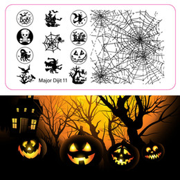 Wholesale Nail Stamp Halloween - Wholesale- New arrival amazing free shipping 10 designs metal stainless nail stamp plate for Halloween and Christmas Major 11