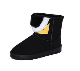Wholesale Low Heel Boots For Women - Women's Shoes Fashion Little monster Snow Boots 2018 New Winter Cotton Warm Shoes For Women Ankle Boots size 35-40