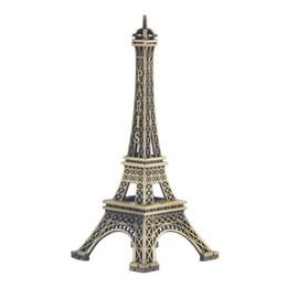 Wholesale Statues Angels Wholesale - Home Desk Decoration 8 15cm Paris Eiffel Tower Figurine Statue Vintage Model Art Crafts Creative Gifts Souvenir Bronze Paris Eiffel Tower
