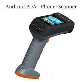 2019 lector usb android Al por mayor-Terminal de mano portátil con pistola Grip 1D 2D Barcode Scanner Reader Data Collector pantalla teclado Android 4.2 escáneres PDA lector usb android baratos