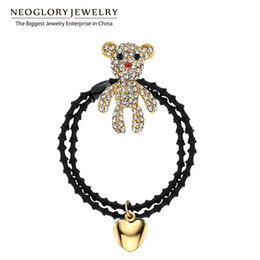 Wholesale Baby Gold Jewelry For Girls - Czech Rhinestone Rose Gold Plated Baby girl Hairwear Hairbands for Women Fashion Neoglory Jewelry 2017 New Arrival SQC