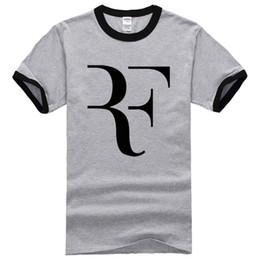 Wholesale Mma Shirts - Wholesale- Roger Federer shirt Brand 100% Cotton Short sleeve Clothing Tops Tees Streetwear 2017 New Style Summer Fashion mma T shirt Men