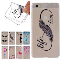 Wholesale Huawei Phone Covers - For Huawei P8 Lite Case Transparent Ultra Thin Soft TPU Silicone Case Shockproof Protective Cover for Huawei P8 Lite Phone Shell (2017 Hot)