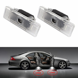 Wholesale Bmw Z8 - For BMW X5 E53 E39 Z8 2Pcs Lot LED Car Door lamp Welcome Light Courtesy Laser Projector Logo 3D Ghost Shadow Light