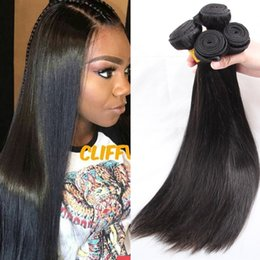 Wholesale Hair Colors Products - 9A Brazilian Straight Hair Bundles 3Pcs Lot Virgin Unprocessed Brazilian Human Hair Extensions Rosa Hair Product Brazilian Virgin Straight