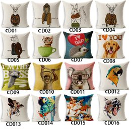Wholesale Kids Dress Type - 150 Types Wholesales Hot Sale Cartoon Animal Dressed Cushion Covers Dog Pet 45X45cm Soft Pillow Cases For Kids Baby Girl Boy Bedroom Decor