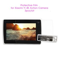 Wholesale sport camera display - Wholesale- 3pcs Xiao yi Sport Camera Screen Protectors Film Protect Camera LCD Display for Xiaomi Yi 4k Action Camera 2 Accessories