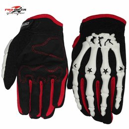 Wholesale Cycling Skeleton Gloves - Wholesale- Pro-biker skeleton gloves motocross men motorcycle racing gloves guantes luvas de motociclista gants moto cycling downhill glove