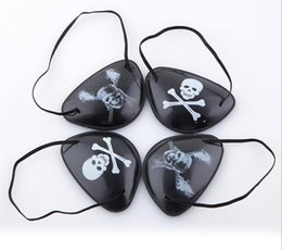 Wholesale Halloween Pirate Masks - Christmas Halloween Costume Kids Toy Eye Patch Blindage accessories pirate One-eye Pirate Eye Patch Mask with Flexible Rope